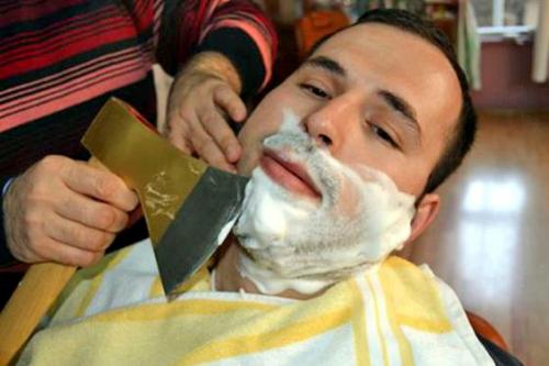 Male themed hair salons